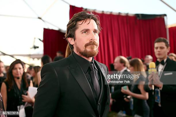 Actor Christian Bale attends The 22nd Annual Screen Actors Guild Awards at The Shrine Auditorium on January 30, 2016 in Los Angeles, California....