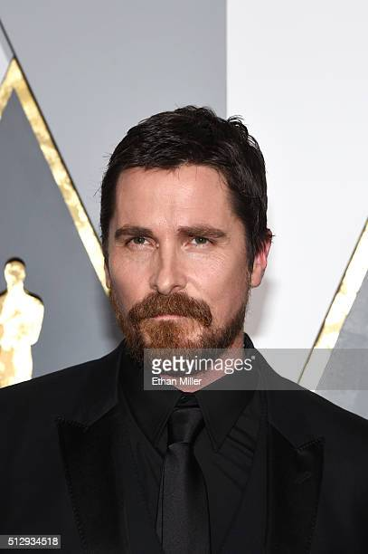 Actor Christian Bale attends the 88th Annual Academy Awards at Hollywood & Highland Center on February 28, 2016 in Hollywood, California.