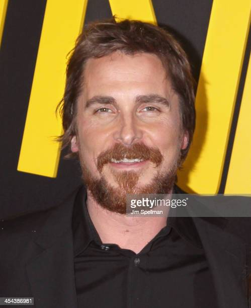 Actor Christian Bale attends the 'American Hustle' screening at Ziegfeld Theater on December 8 2013 in New York City