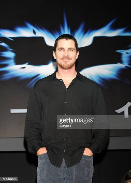 """Actor Christian Bale attends """"The Dark Knight"""" Press Conference at Grand Hyatt Tokyo on July 29, 2008 in Tokyo, Japan. The film will open on August 9..."""