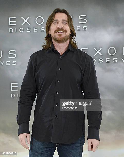 Actor Christian Bale attends the 'Exodus: Gods And Kings' photocall at Villamagna Hotel on December 4, 2014 in Madrid, Spain.