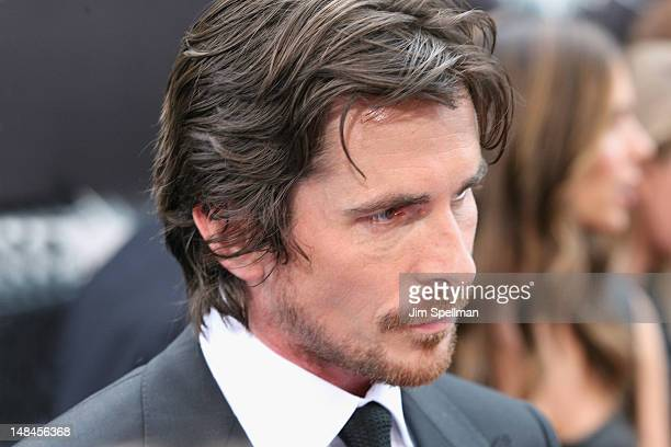 Actor Christian Bale attends the 'The Dark Knight Rises' World Premiere at AMC Lincoln Square Theater on July 16 2012 in New York City
