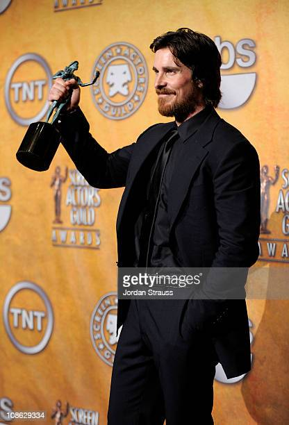 Actor Christian Bale attends the TNT/TBS broadcast of the 17th Annual Screen Actors Guild Awards held at The Shrine Auditorium on January 30 2011 in...