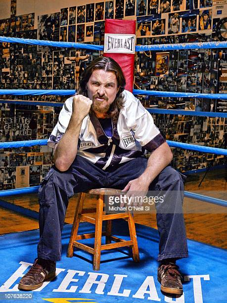 Actor Christian Bale during photo shoot at Church Street Boxing Gym photographed for Sports Illustrated in New York City New York on December 09 2010