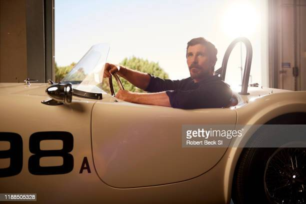 Actor Christian Bale is photographed for Sports Illustrated on August 8 2019 at the Shelby Building in Gardena California CREDIT MUST READ Robert...