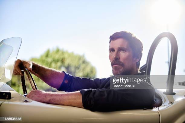 Actor Christian Bale is photographed for Sports Illustrated on August 8 2019 at the Shelby Building in Gardena California PUBLISHED IMAGE CREDIT MUST...
