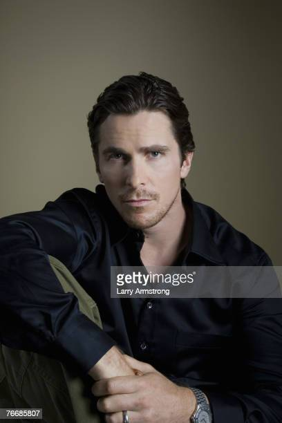 Actor Christian Bale poses at a portrait session for USA Today on September 5 2007 in Los Angeles CA