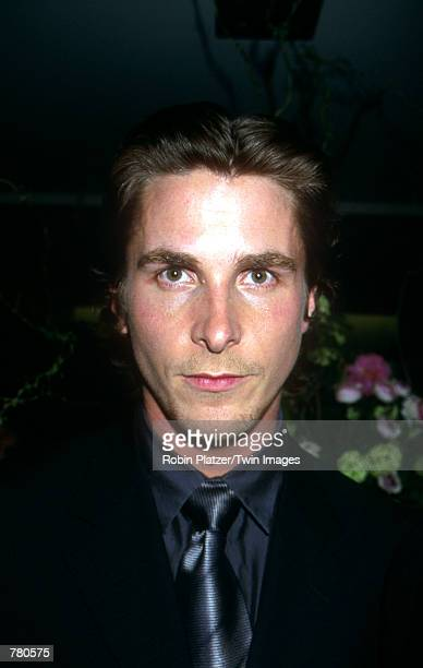 "Actor Christian Bale poses for photographers April 11, 2000 at the premiere of the movie ""American Psycho"" in New York City."