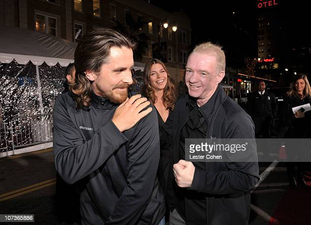 Actor Christian Bale Sibi Blazic and Dicky Eklund arrive at The Fighter Los Angeles premiere held at the Grauman's Chinese Theatre on December 6 2010...