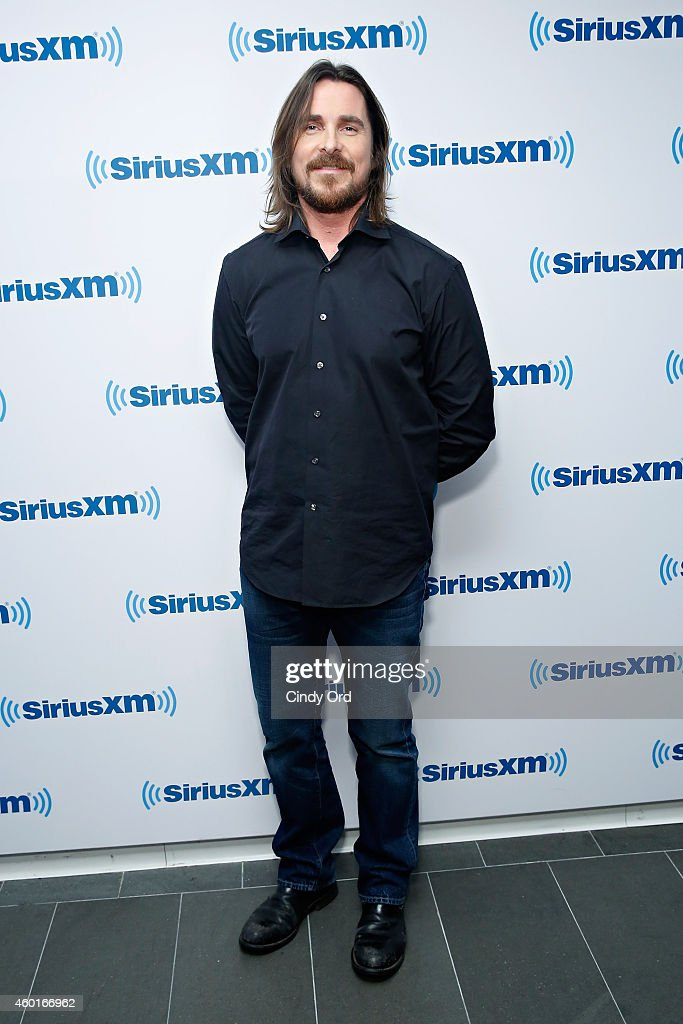 Actor Christian Bale visits the SiriusXM Studio on December 8, 2014 in New York City.
