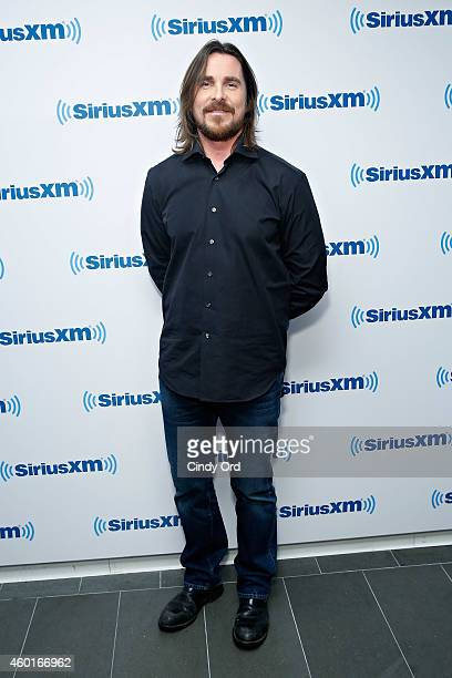 Actor Christian Bale visits the SiriusXM Studio on December 8 2014 in New York City