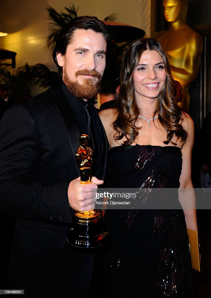 Actor Christian Bale (L), winner of the award for Best Actor in a Supporting Role for 'The Fighter', and wife Sibi Blazic attend the Governors Ball on February 27, 2011 in Hollywood, California.