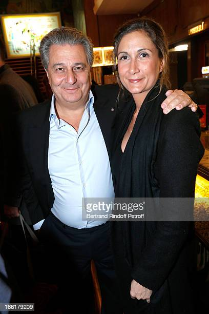 Actor Christian Clavier and his Agent Coline Berry attend 'Les Profs' Movie Premiere at Le Grand Rex on April 9 2013 in Paris France