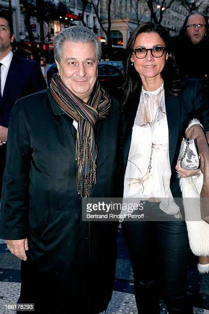 Actor Christian Clavier and his wife Isabelle de Ajauros attend 'Les Profs' Movie Premiere at Le Grand Rex on April 9 2013 in Paris France