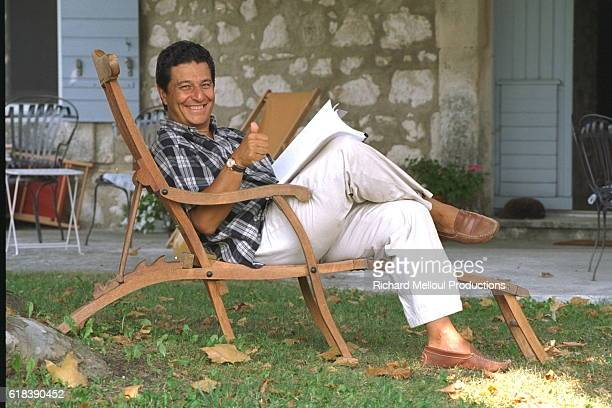 Actor Christian Clavier on Holiday in Eygalieres