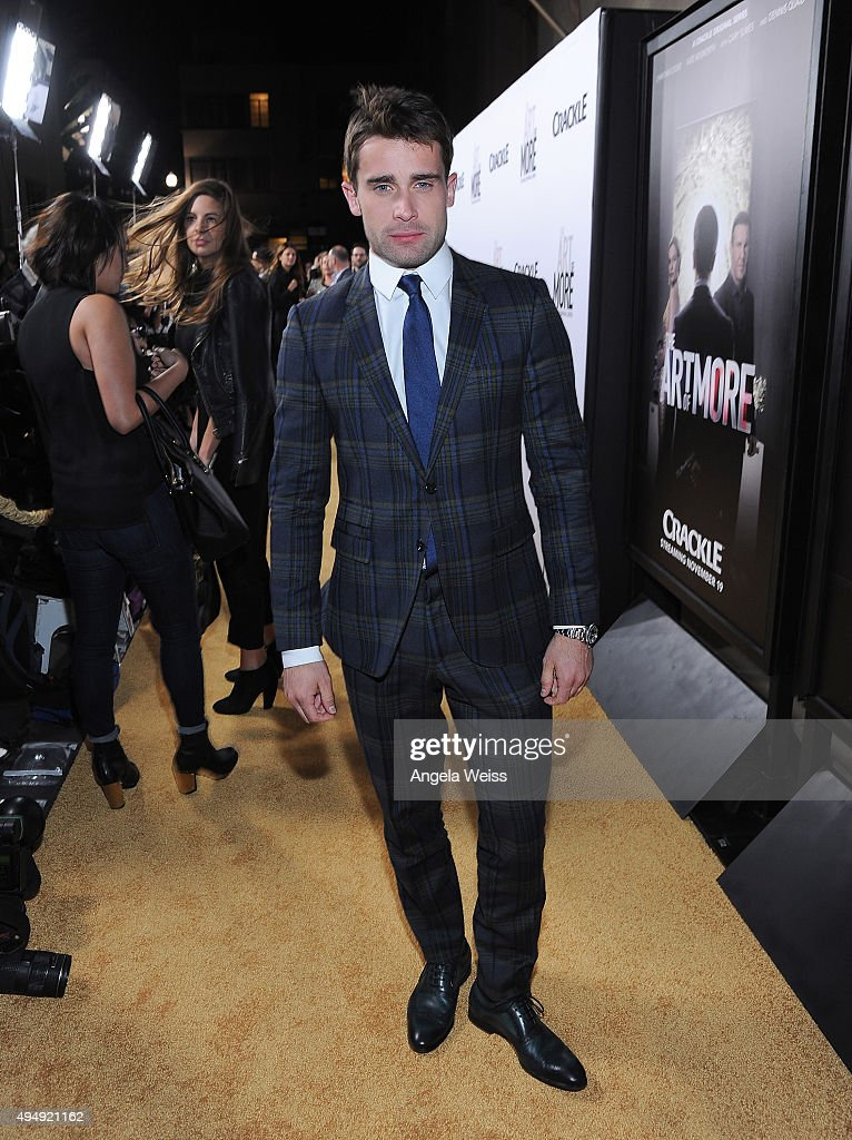 Actor Christian Cooke arrives at the premiere of Crackle's 'The Art of More' at Sony Pictures Studios on October 29, 2015 in Culver City, California.