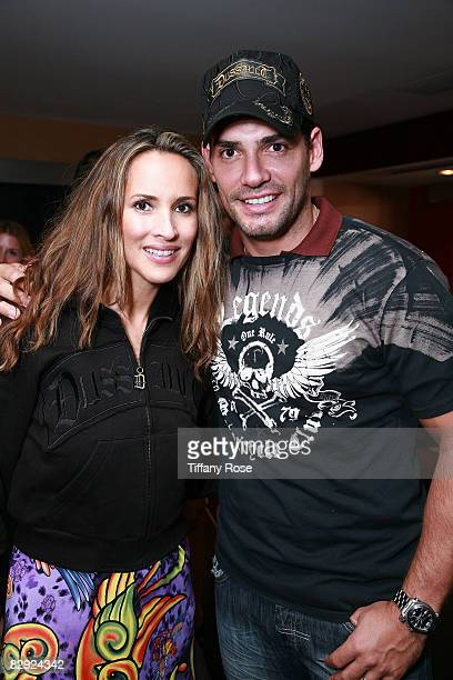 Actor Christian de la Fuente and his wife actress Angelica Castro attend Melanie Segal's Emmy House on September 19 2008 in Los Angeles California