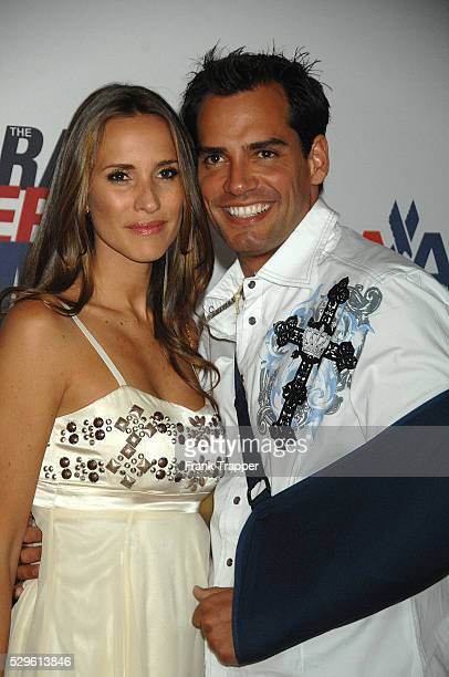 Actor Christian de la Fuente and wife/actress Angelica Castro arrive at the 15th annual Race To Erase MS benefiting the Nancy Davis Foundation held...