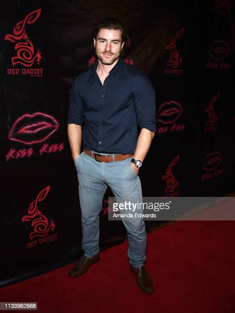 Actor Christian Howard arrives at the Los Angeles premiere of 'KISS KISS' at the Ahrya Fine Arts Theater by Laemmle on March 05 2019 in Beverly Hills...