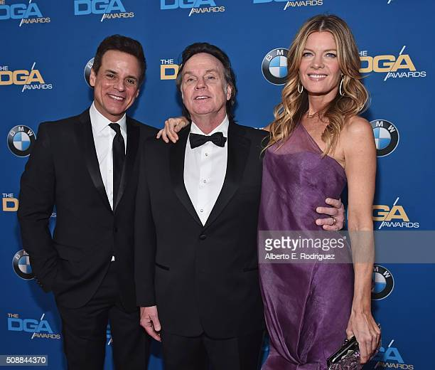 Actor Christian Jules Le Blanc director Thomas McDermott and actress Michelle Stafford attends the 68th Annual Directors Guild Of America Awards at...
