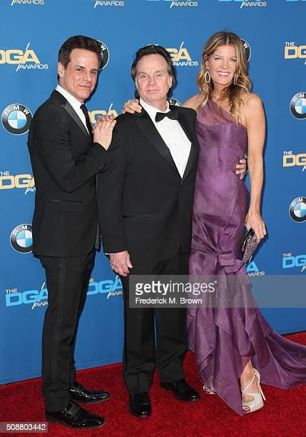 Actor Christian Jules Le Blanc honoree Thomas McDermott and actress Michelle Stafford attend the 68th Annual Directors Guild Of America Awards at the...