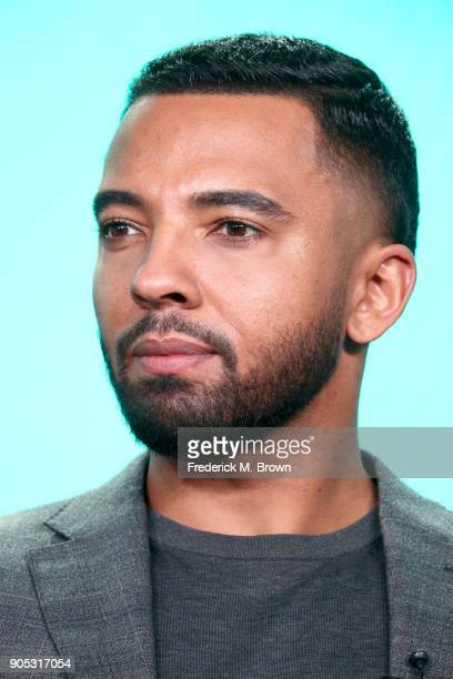 Actor Christian Keyes of 'In Contempt' speaks onstage during the Viacom portion of the 2018 Winter Television Critics Association Press Tour at The...