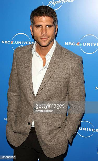 Actor Christian Meier arrives for the NBC Universal Experience at Rockefeller Center as part of upfront week on May 12 2008 in New York City