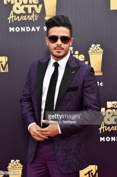 Actor Christian Navarro attends the 2018 MTV Movie And TV Awards at Barker Hangar on June 16 2018 in Santa Monica California