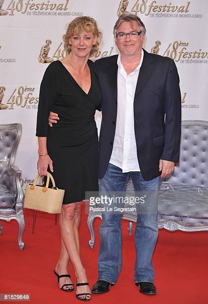 Actor Christian Rauth and actress Cecile Auclert attends the TF1 party on the fourth day of the 2008 Monte Carlo Television Festival held at Grimaldi...