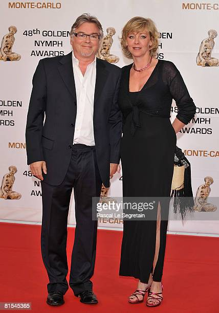 Actor Christian Rauth and Cecile Auclert attends the Golden Nymph awards ceremony during the 2008 Monte Carlo Television Festival held at Grimaldi...