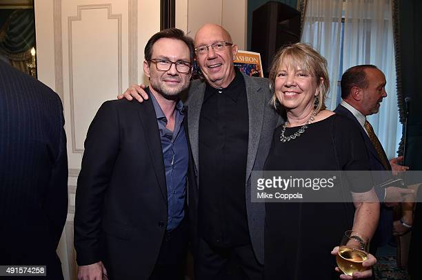 Actor Christian Slater actor and director Dann Florek and his wife Karen Florek attend the 30th Annual Great Sports Legends Dinner to benefit The...