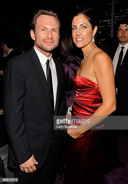 Actor Christian Slater and agent Tracy Brennan attend the InStyle and Warner Bros 67th Annual Golden Globes postparty held at the Oasis Courtyard at...