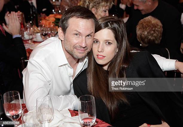 Actor Christian Slater and Brittany Lopez attend the 29th Annual Great Sports Legends Dinner to benefit The Buoniconti Fund to Cure Paralysis at The...