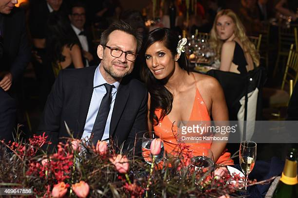 Actor Christian Slater and Padma Lakshmi attend the 7th Annual Blossom Ball benefiting the Endometriosis Foundation Of America hosted by EFA Founders...