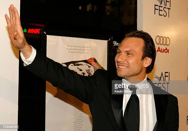 Actor Christian Slater arrives at the AFI FEST presented by Audi opening night gala of Bobby at the Grauman's Chinese Theatre on November 1 2006 in...