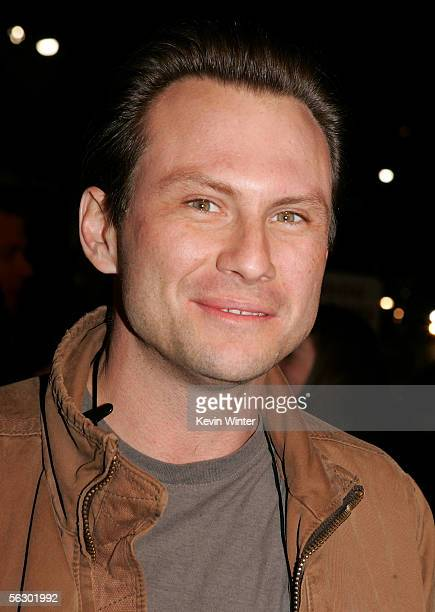 Actor Christian Slater arrives at the premiere of Brokeback Mountain at the Mann National Theater on November 29 2005 in Westwood California