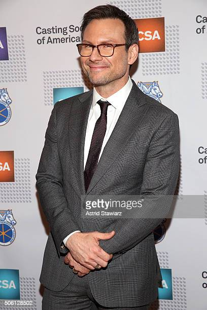 Actor Christian Slater attends 31st Annual Artios Awards at Hard Rock Cafe Times Square on January 21 2016 in New York City