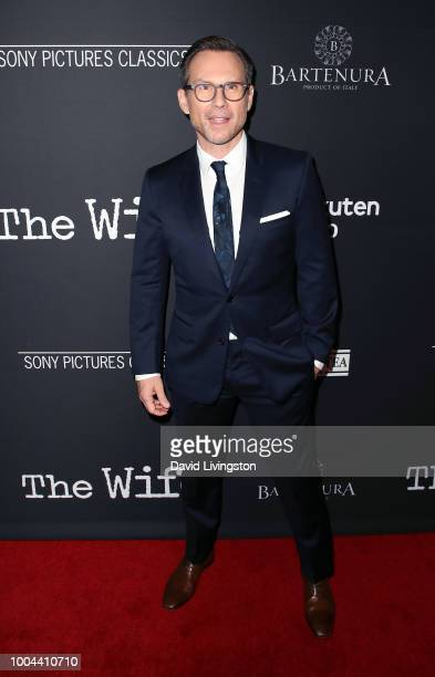 Actor Christian Slater attends Sony Pictures Classics' Los Angeles premiere of The Wife at the Pacific Design Center on July 23 2018 in West...