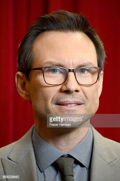 Actor Christian Slater attends the 16th Annual AFI Awards at Four Seasons Hotel Los Angeles at Beverly Hills on January 8 2016 in Beverly Hills...