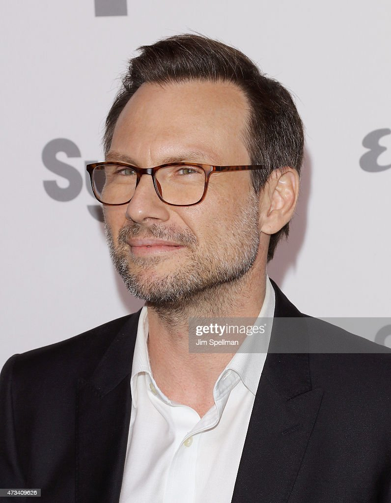 Actor Christian Slater attends the 2015 NBCUniversal Cable Entertainment Upfront at The Jacob K. Javits Convention Center on May 14, 2015 in New York City.
