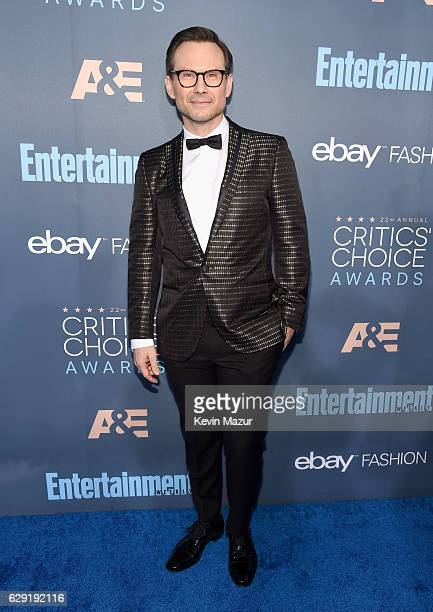 Actor Christian Slater attends The 22nd Annual Critics' Choice Awards at Barker Hangar on December 11 2016 in Santa Monica California