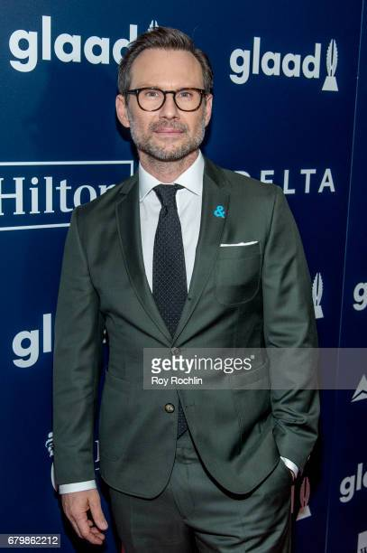 Actor Christian Slater attends the 28th Annual GLAAD Awards at New York Hilton Midtown on May 6 2017 in New York City