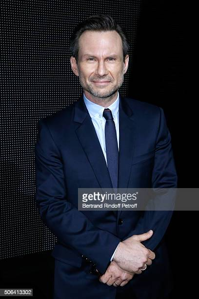 Actor Christian Slater attends the Dior Homme Menswear Fall/Winter 20162017 show as part of Paris Fashion Week on January 23 2016 in Paris France