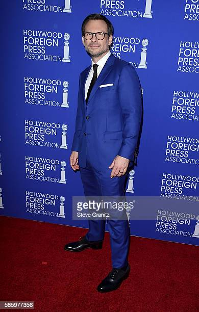 Actor Christian Slater attends the Hollywood Foreign Press Association's Grants Banquet at the Beverly Wilshire Four Seasons Hotel on August 4 2016...