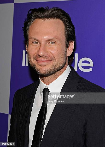 Actor Christian Slater attends the InStyle and Warner Bros 67th Annual Golden Globes postparty held at the Oasis Courtyard at The Beverly Hilton...