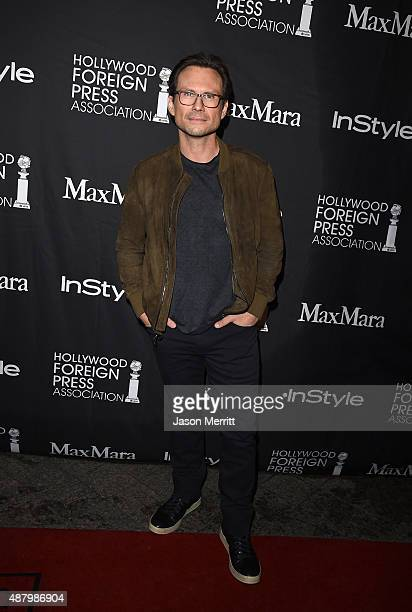 Actor Christian Slater attends the InStyle HFPA party during the 2015 Toronto International Film Festival at the Windsor Arms Hotel on September 12...