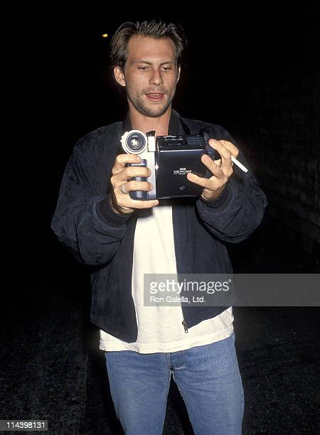 Actor Christian Slater attends the 'Malice' Beverly Hills Premiere on September 29 1993 at the Academy Theatre in Beverly Hills California