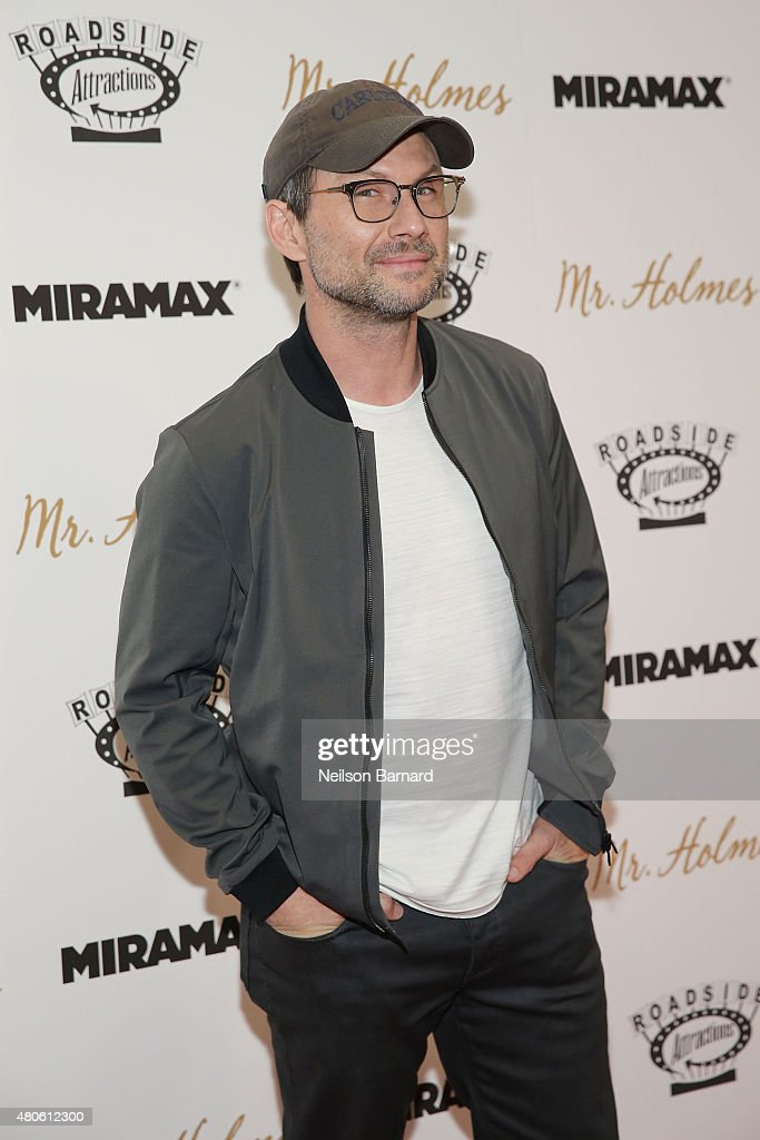 Actor Christian Slater attends the New York premiere of 'Mr. Holmes' at Museum of Modern Art on July 13, 2015 in New York City.