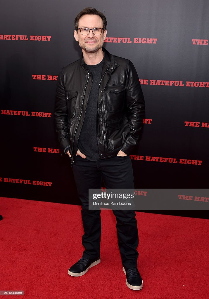 Actor Christian Slater attends the New York premiere of 'The Hateful Eight' on December 14, 2015 in New York City.