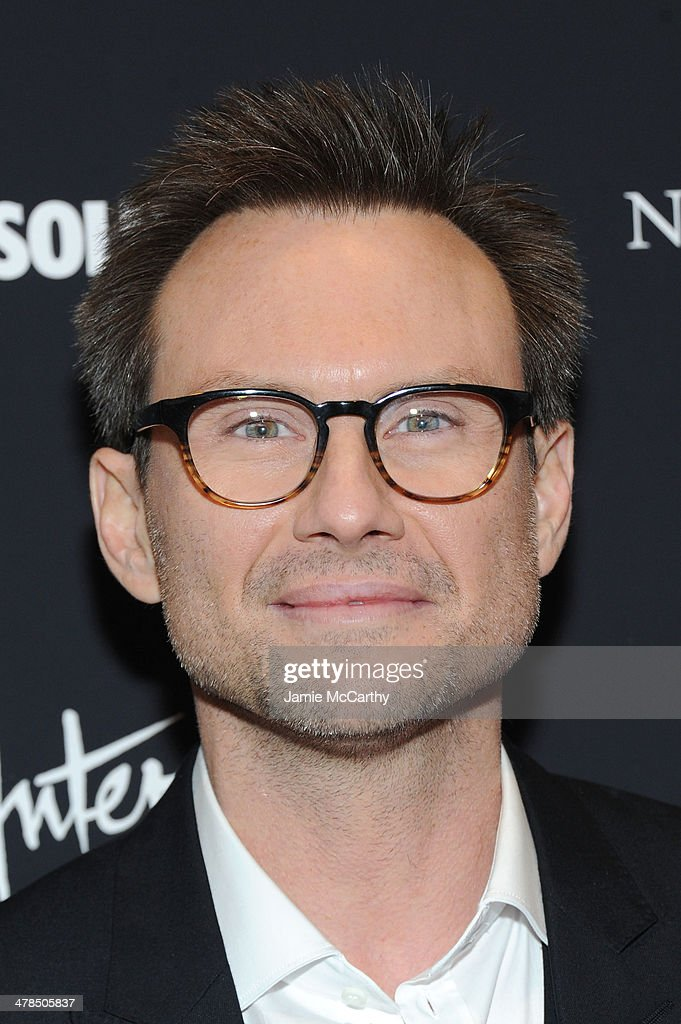 Actor Christian Slater attends the 'Nymphomaniac: Volume I' New York screening at Museum of Modern Art on March 13, 2014 in New York City.